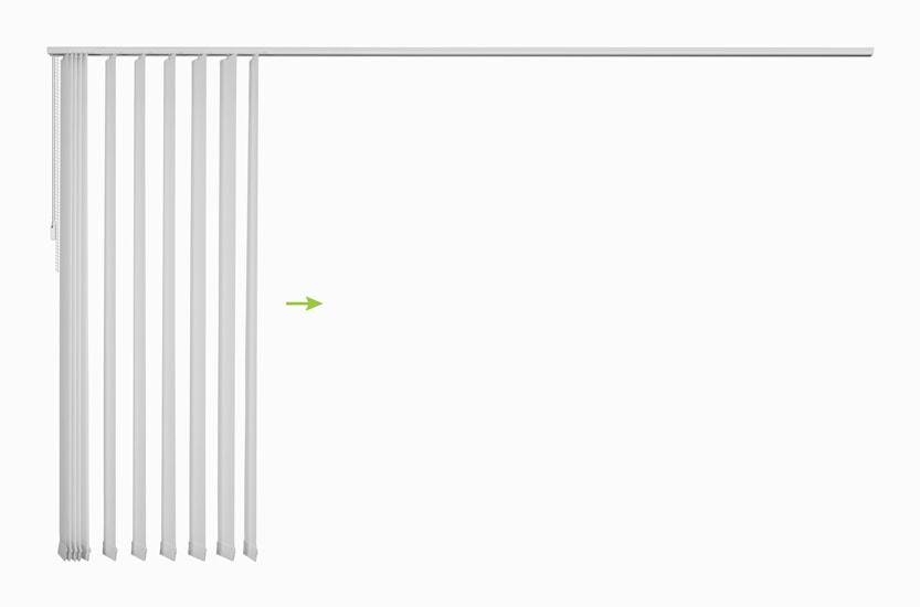 Lamelne zavese - odpiranje z leve proti desni
