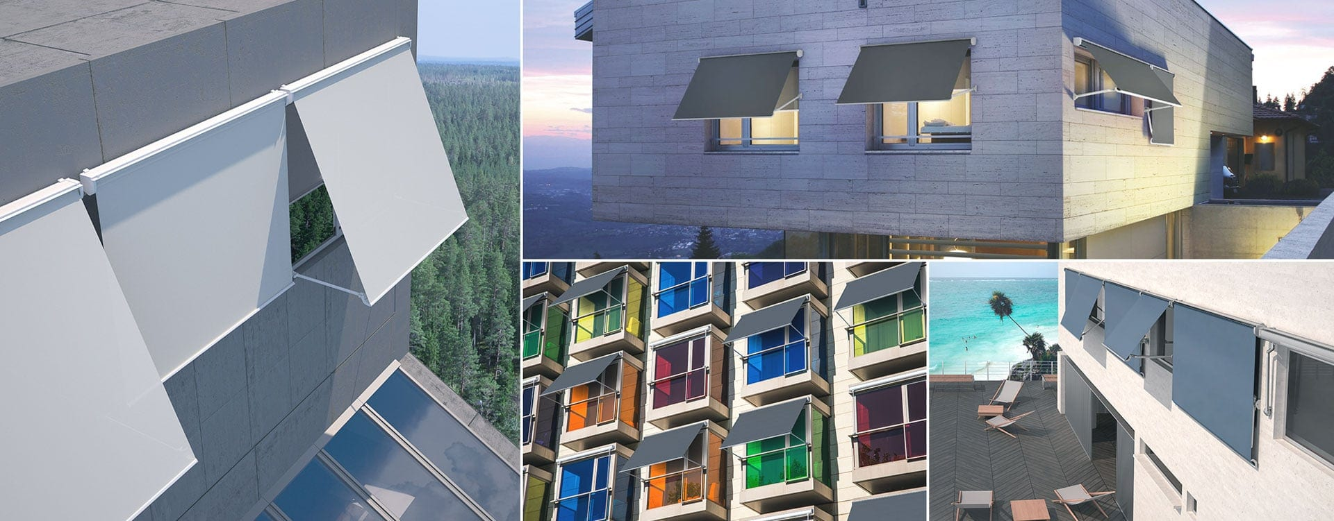 Okenske in balkonske tende